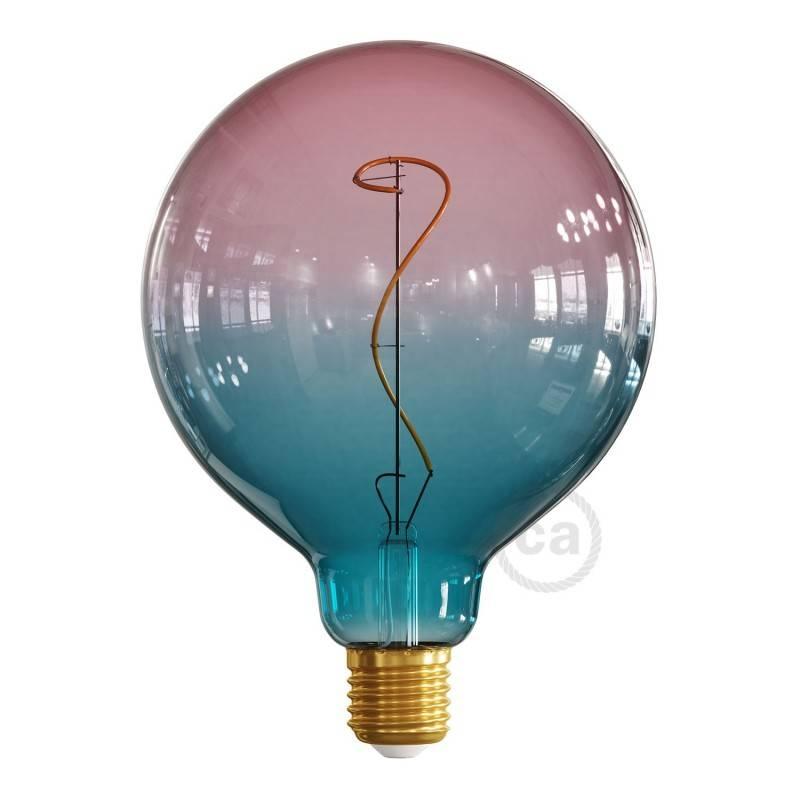 Lampadina LED Globo G125 linea Pastel Dream filamento Vite 4W E27 Dimmerabile 2200K