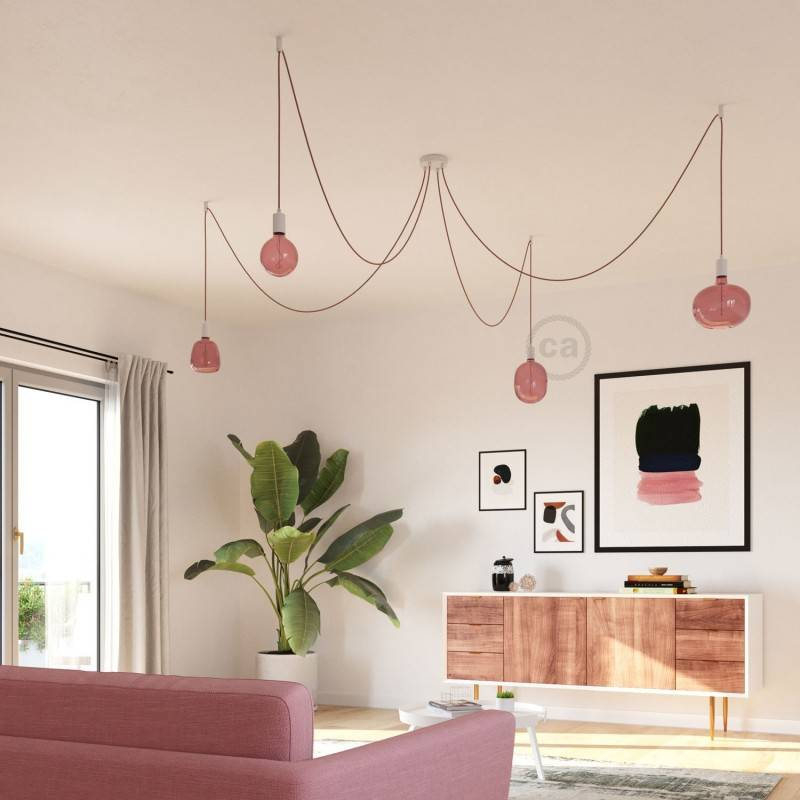 Lampadina LED XXL Egg linea Pastel Berry Red filamento Vite 4W E27 Dimmerabile 2200K