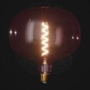 Lampadina LED Cobble linea Pastel Berry Red filamento Spirale 4W E27 Dimmerabile 2200K