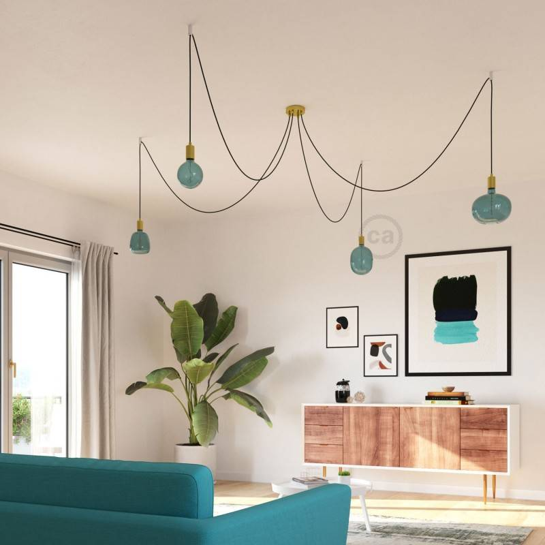Lampadina LED XXL Cobble linea Pastel Ocean Blue filamento Spirale 4W E27 Dimmerabile 2200K