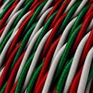 Cavo Elettrico trecciato rivestito in tessuto effetto Seta Italia
