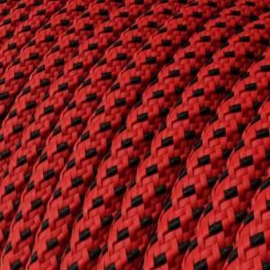 Cavo Elettrico rotondo rivestito in tessuto effetto 3D in rilievo Red Devil RT94