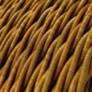 Cavo Elettrico trecciato rivestito in tessuto effetto Seta Borbone TG03