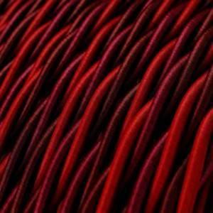 Cavo Elettrico trecciato rivestito in tessuto effetto Seta Asburgo TG05