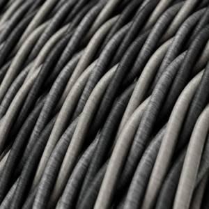 Cavo Elettrico trecciato rivestito in tessuto effetto Seta Orleans TG07