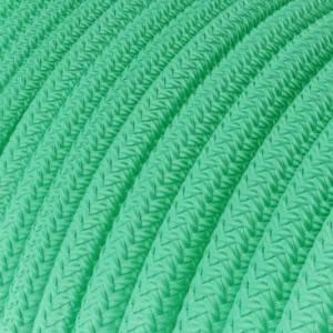 Cavo Elettrico rotondo rivestito in tessuto effetto Seta Tinta Unita Opale RH69