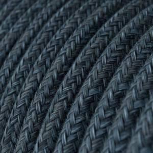 Cavo Elettrico rotondo rivestito in Cotone Blu Mirage RX10