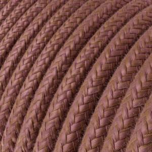 Cavo Elettrico rotondo rivestito in Cotone Marsala RX11