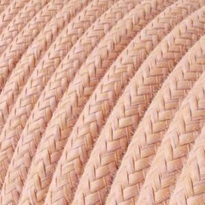 Cavo Elettrico rotondo rivestito in Cotone Salmone RX13