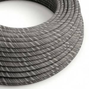 Cavo Elettrico rotondo Vertigo rivestito in Cotone Nero Mélange ERC37