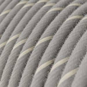 Cavo Elettrico rotondo Vertigo rivestito in Lino e Cotone Eggnog ERD22