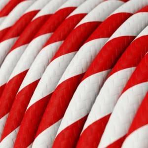 Cavo Elettrico rotondo Vertigo HD rivestito in tessuto Candy Cane ERM39