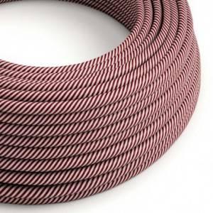 Cavo Elettrico rotondo Vertigo HD rivestito in tessuto Rosa e Granata ERM47