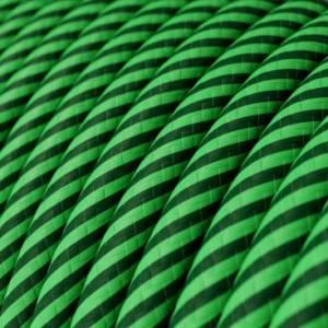Cavo Elettrico rotondo Vertigo HD rivestito in tessuto Kiwi e Verde Scuro ERM48