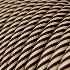 Cavo Elettrico rotondo Vertigo HD rivestito in tessuto Sabbia e Marrone Scuro ERM51