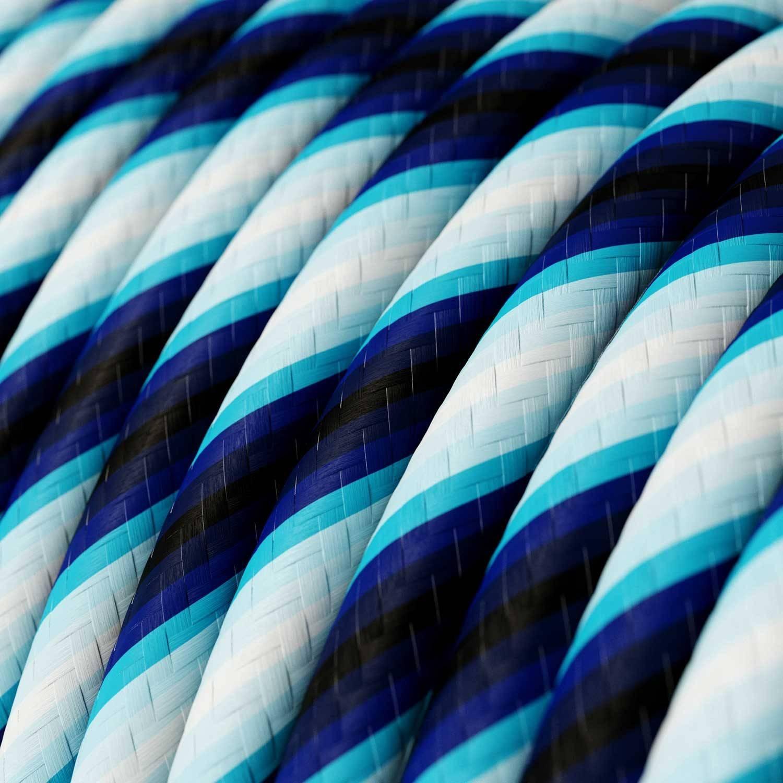 Cavo Elettrico rotondo Vertigo HD rivestito in tessuto Mr Blue ERM60