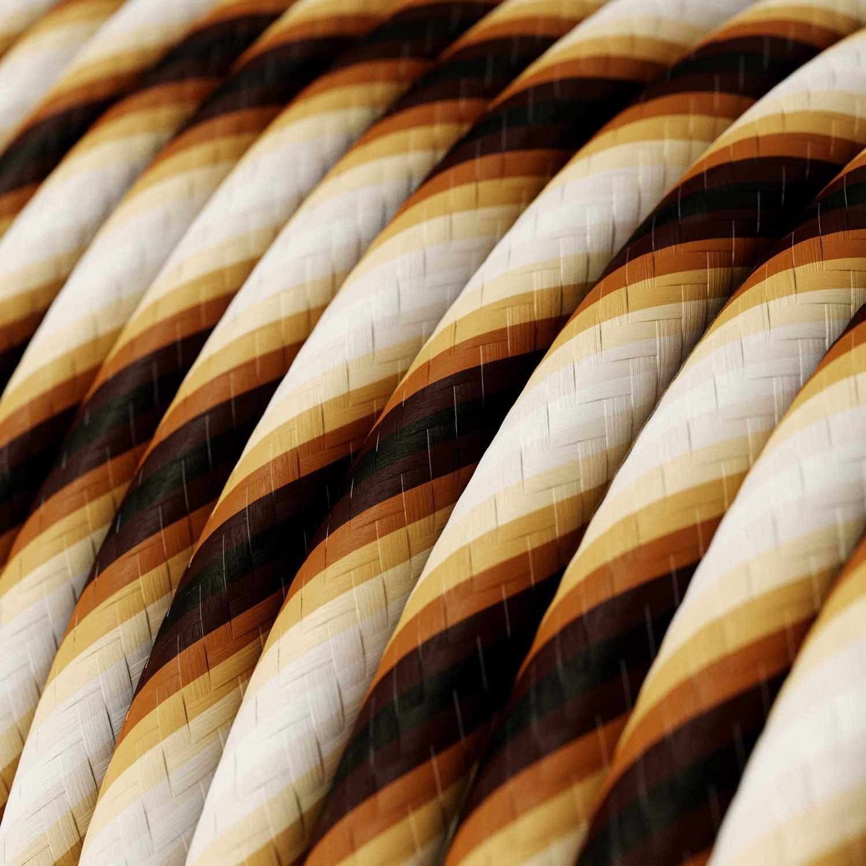 Cavo Elettrico rotondo Vertigo HD rivestito in tessuto Mr Brown ERM61