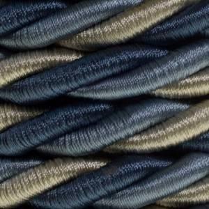 Cordone XL, cavo elettrico 3x0,75. Rivestimento in tessuto lucido Bernadotte. Diametro 16mm.