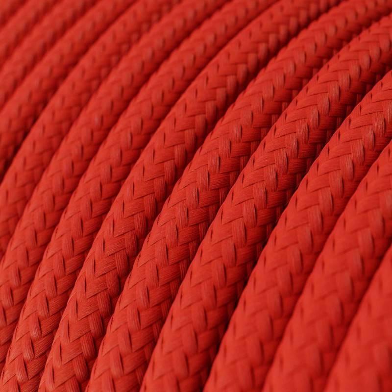 Cavo Lan Ethernet Cat 5e con connettori RJ45 - RM09 Effetto Seta Rosso