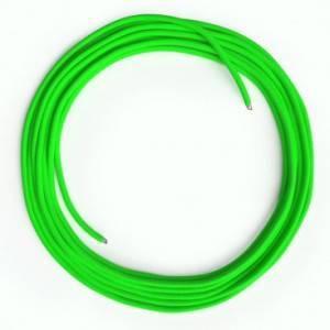 Cavo Lan Ethernet Cat 5e senza connettori RJ45 - RF06 Effetto Seta Verde Fluo