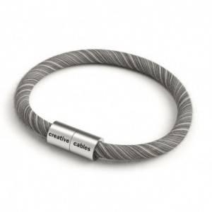 Braccialetto con chiusura magnetica argento opaco e cavo ERC37