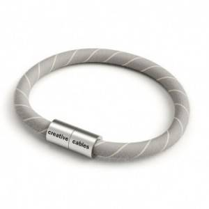 Braccialetto con chiusura magnetica argento opaco e cavo ERD22