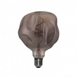 Lampadina LED Globo G125 Bumped Smoky filamento a Spirale 5W E27 Dimmerabile 2000K
