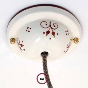 Kit rosone in ceramica con Decoro 81-Bacche