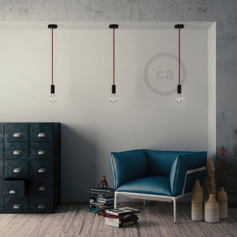Kit portalampada E27 in legno per cordone XL