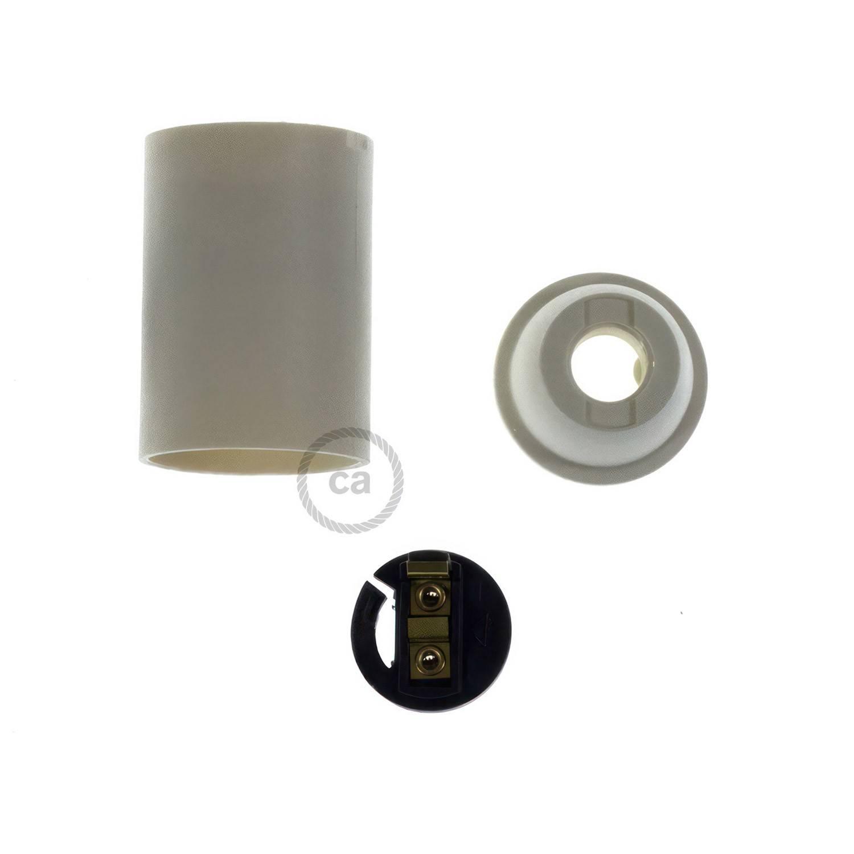 Kit portalampada E14 in termoplastica