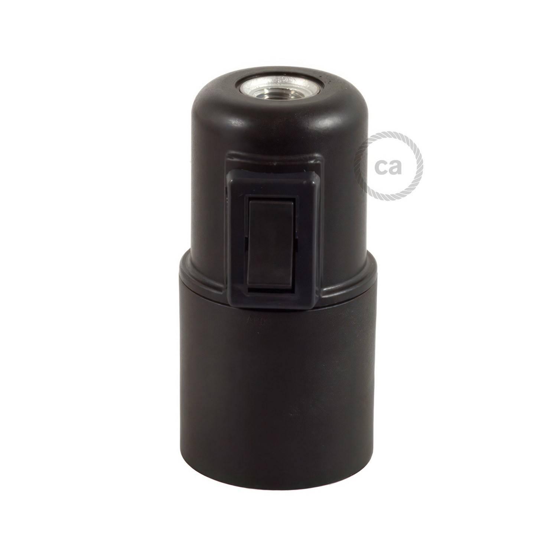 Kit portalampada E27 in termoplastica con interruttore