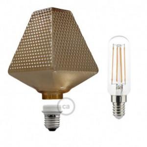 Lampadina Decorativa Componibile LED G160 con vetro fumè 4,5W E27 Dimmerabile 2700K