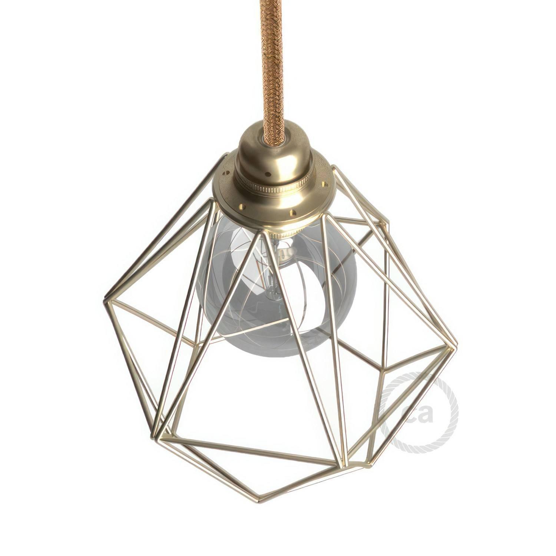 Gabbia paralume Diamond in metallo con attacco E27