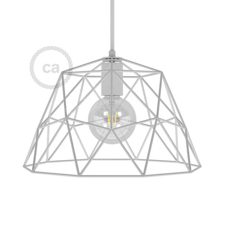 Gabbia XL paralume nudo Dome in metallo con portalampada E27