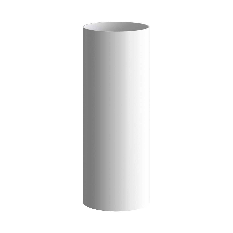 Tub-E14, tubo in metallo per faretto con portalampada doppia ghiera E14
