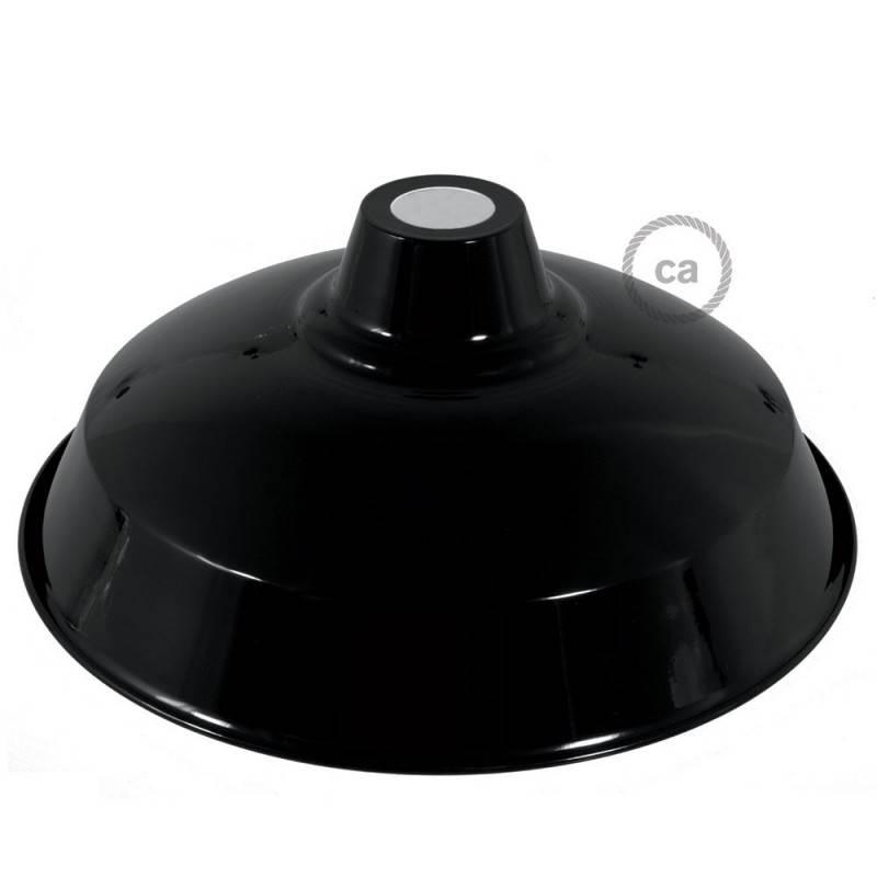 Paralume Bistrot in metallo smaltato con attacco E27, diametro 38 cm
