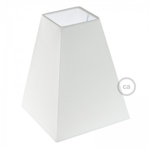 Paralume Piramide Quadrata in tessuto con attacco E27, base 16x16 cm H20 cm - 100% Made in Italy