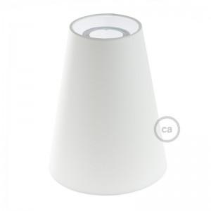 Paralume Tronco di Cono in tessuto con attacco E27, diametro 16 cm H20 cm - 100% Made in Italy