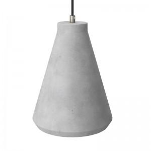 Paralume in cemento Imbuto per lampada a sospensione, completo di serracavo e portalampada E27