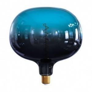 """LIMITED EDITION - Lampadina LED XXL Cobble linea Pastel """"Sbagliate"""" Dusk filamento Spirale 4W E27 Dimmerabile 2200K"""