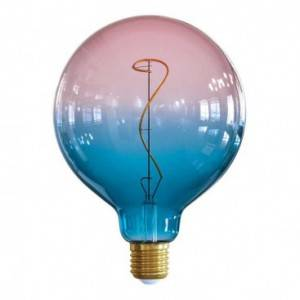 "LIMITED EDITION - Lampadina LED Globo G125 linea Pastel ""Sbagliate"" Dream filamento Vite 4W E27 Dimmerabile 2200K"