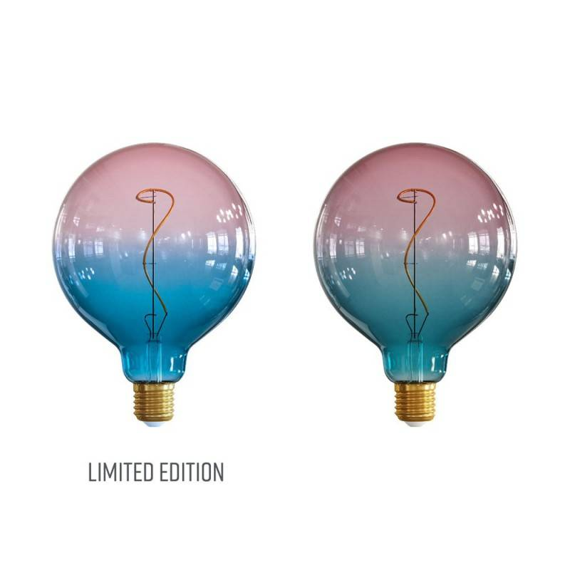 """LIMITED EDITION - Lampadina LED Globo G125 linea Pastel """"Sbagliate"""" Dream filamento Vite 4W E27 Dimmerabile 2200K"""