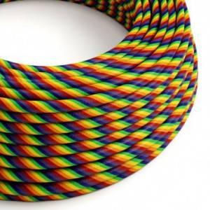 Cavo Elettrico rotondo Vertigo HD rivestito in tessuto Rainbow ERM68