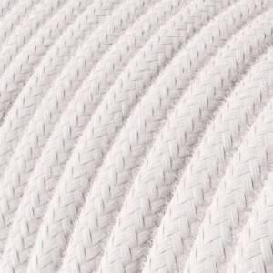 Cavo Elettrico rotondo rivestito in Cotone Tinta Unita Rosa pallido RC16
