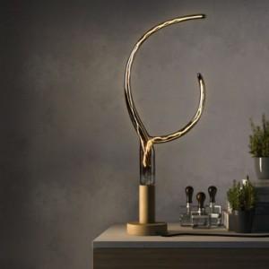 Lampadina LED Smoky Grey Filamento Artistico Doppio Corno 6W E27 Dimmerabile 2200K