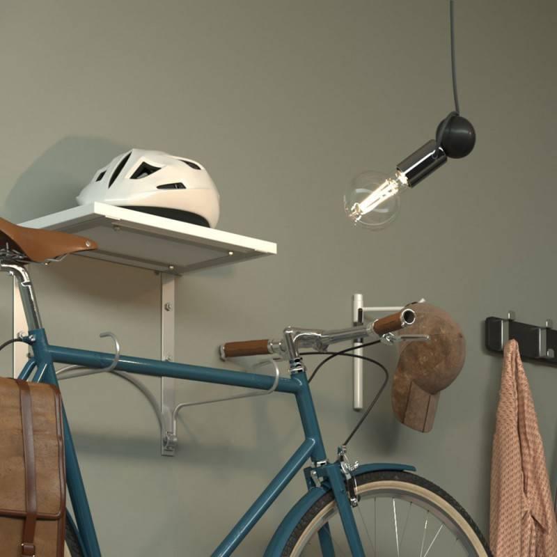 Lampada a sospensione Magnetico®-Pendel completa di cavo tessile e portalampada magnetico orientabile