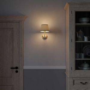 Fermaluce Cottage, lampada a muro in ceramica con paralume e estensione curva