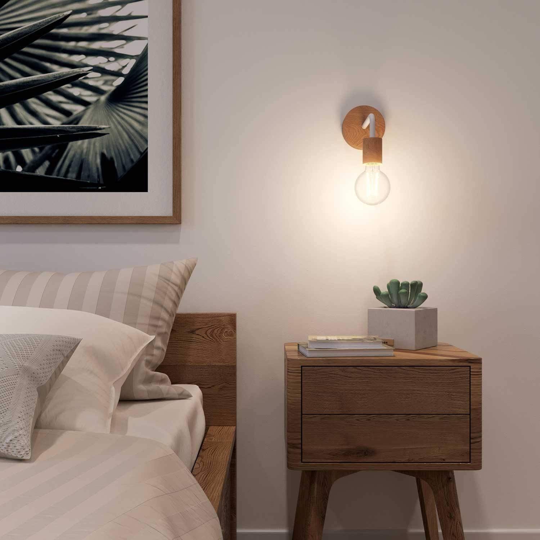 Fermaluce Wood Il Punto Luce In Legno Con Estensione Curva