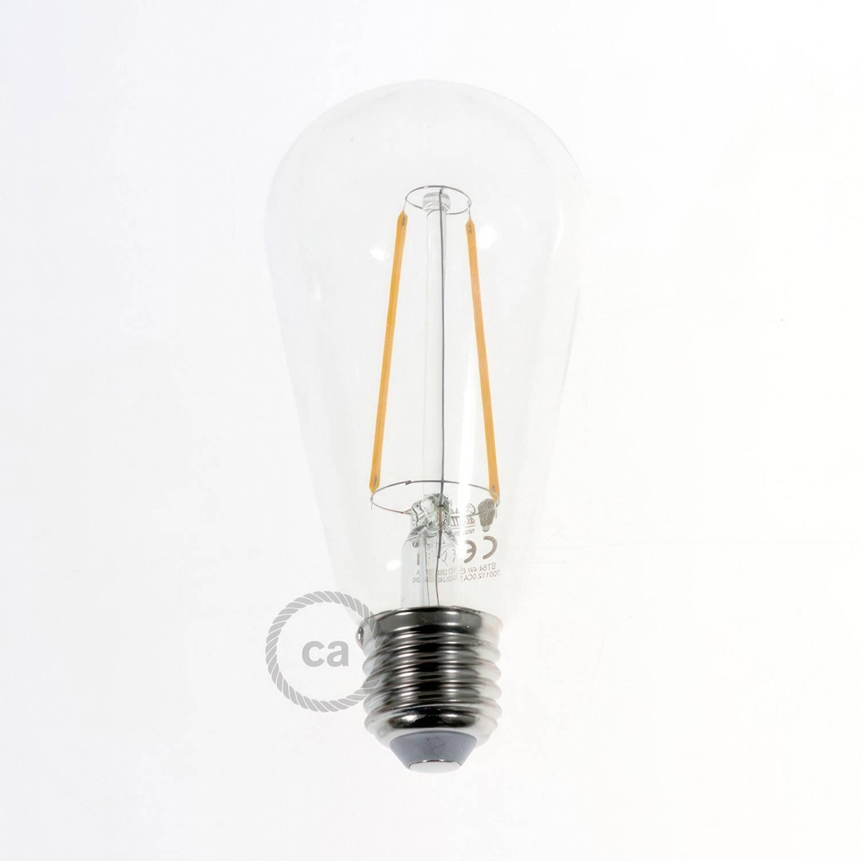 Fermaluce Metallo 90° con paralume Drop, lampada filomuro orientabile in metallo