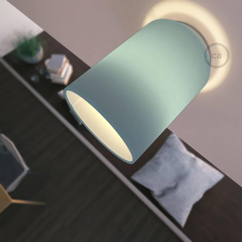 Fermaluce Color con paralume Cilindro, lampada filomuro